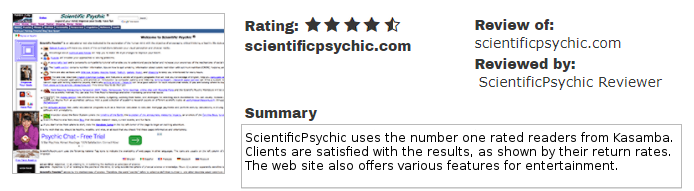 ScientificPsychic.com Ratings